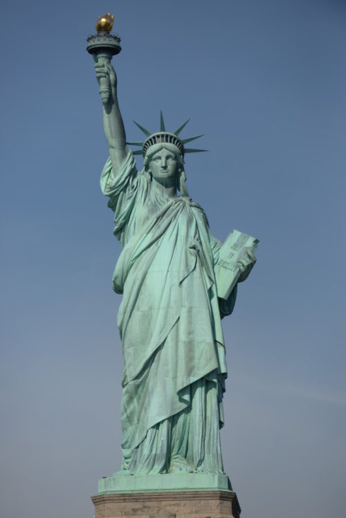 New York Statue of Liberty with the American Declaration of Independence